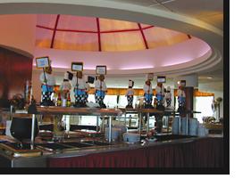 Foto des Buffets im Monica Isabel Beach Club in Albufeira
