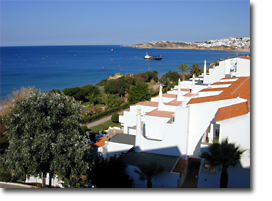 Meerblick Foto vom Monica Isabel Beach Club Hotel in Albufeira