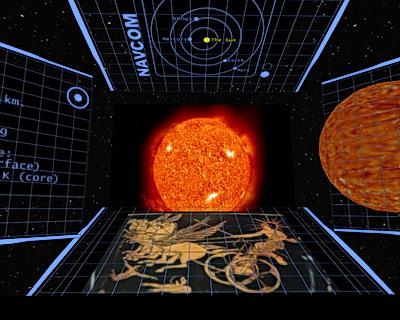 Das Sonnensystem wird im Theater praesentiert