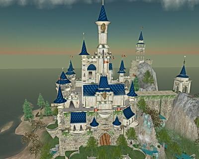 Totalansicht der Burg