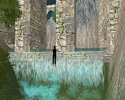 Wasserfaelle in den Bergen