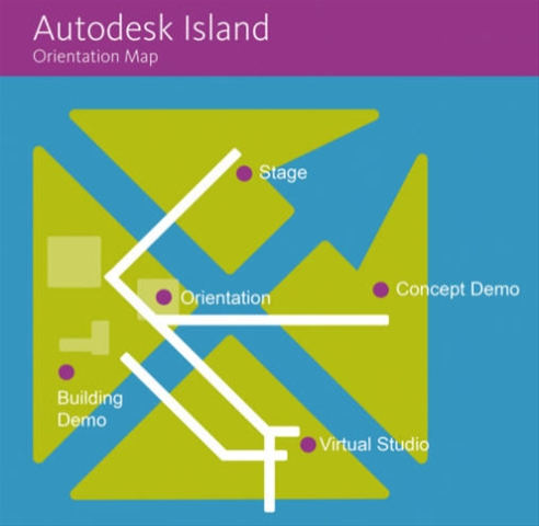 Autodesk Island Map