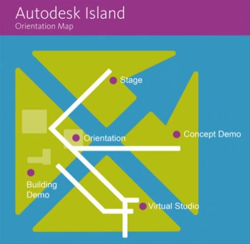Autodesk Island Map