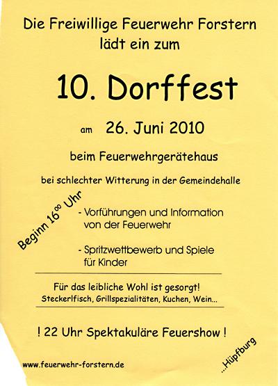 Dorffest Forstern 2010