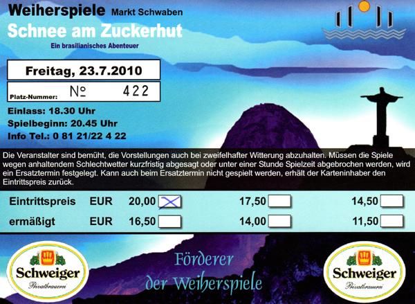 Markt Schwaben Weiherspiele - Eintrittskarte
