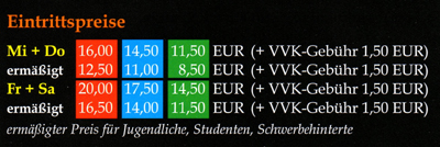 Markt Schwaben Weiherspiele - Preisplan