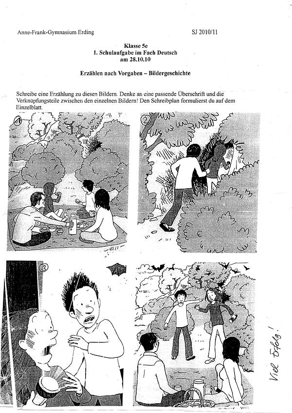 Deutsch Schulaufgabe 5. Klasse Gymnasium