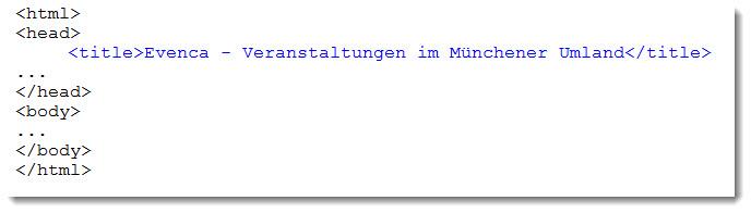 HTML-Code für den Seitentitel