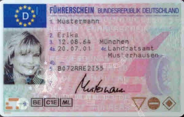 Führerschein von Erika Mustermann