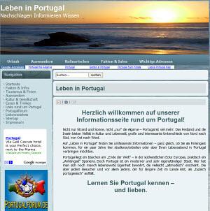 Leben in Portugal - die Homepage des Portugal Info Portals