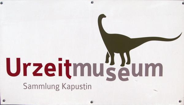Urzeitmuseum Taufkirchen - Schild