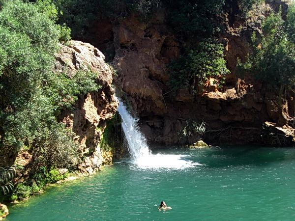 Portugal 2011 - Pego do Inferno: der Wasserfall