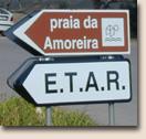 Portugal - Praia da Amoreira: Wegweiser