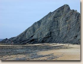 Portugal - Praia da Amoreira: Schieferwand