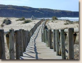 Portugal - Praia da Amoreira: ein Steg