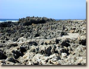Portugal - Praia da Amoreira: viele Steine