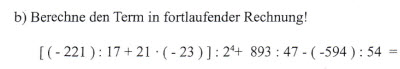 [ (-221) : 17 + 21 * (-23) ] : 2 hoch 4 + 893 : 47 - (-594) : 54 =