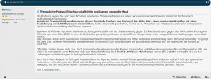 Screenshot - News-Beispiel aus dem Portugalforum.de