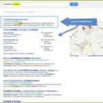 Screenshot - Beispiel einer regionalen Suche in Google