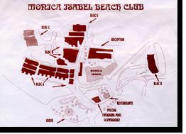 Übersichtsplan vom Monica Isabel Beach Club in Albufeira