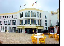 Foto der Vorderseite des Monica Isabel Beach Club Hotels in Albufeira