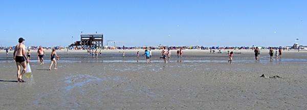 Der Strand in Sankt Peter-Ording ist riesig