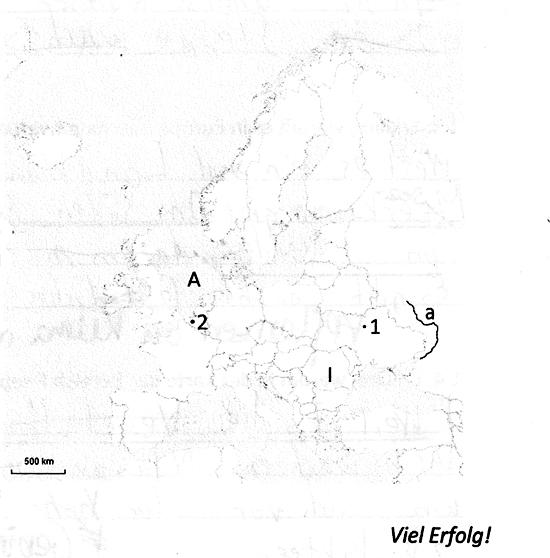 Grafik zur Topografie Europas