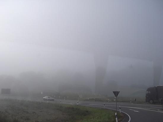 Sehr viel Nebel bei der Anfahrt zur Eisriesenwelt