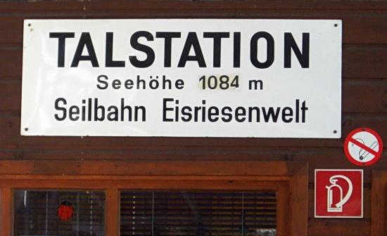 Die Talstation befindet sich auf 1084 Meter Höhe