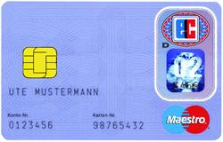 Beispiel für eine EC-Karte
