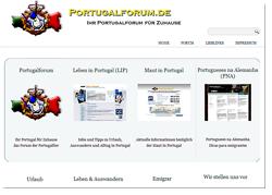 Einstiegsseite des Portugal-Portals von Portugalforum.de