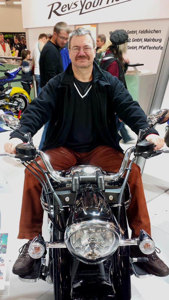 Foto von mir auf der Yamaha XV1900A