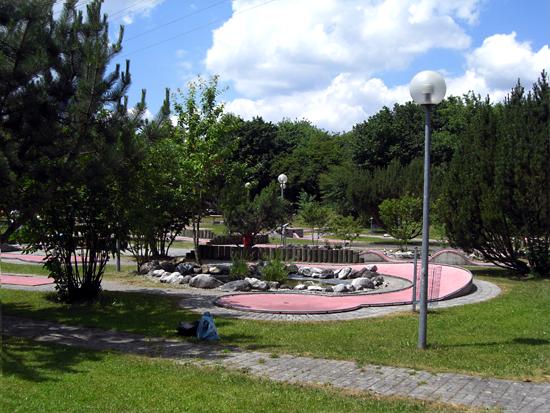 Foto auf den Minigolfplatz in Neufinsing