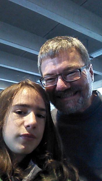 Foto von mir und meinem Sohn