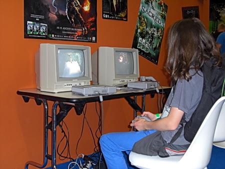 Foto von alten Spielkonsolen