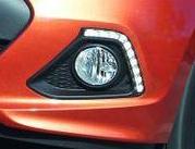 Dateilfoto vom LED-Tagfahrlicht des Hyundai i10