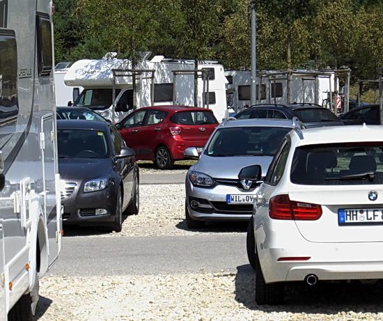 Foto vom Bus-Parkplatz der Allianz-Arena