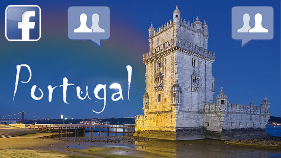 Bild mit dem Torre de Belém in Lissabon