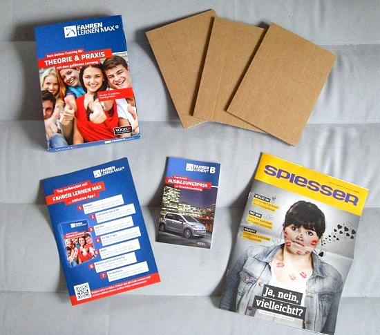 """Foto des Inhalts des Kartons """"Fahren Lernen Max"""""""