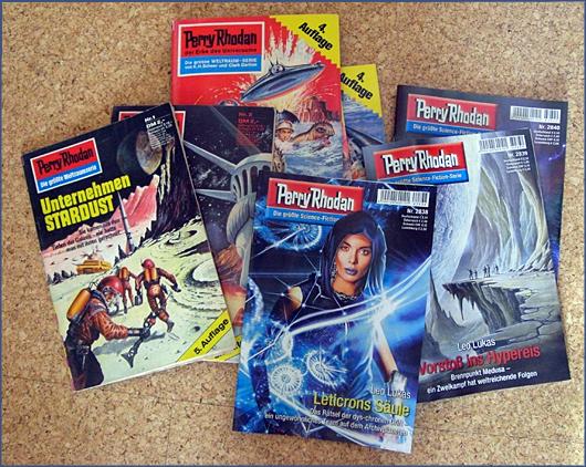 Foto einiger Perry Rhodan Hefte