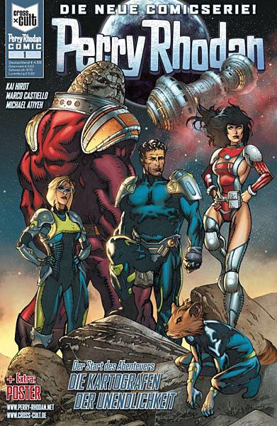 Coverfoto des 1, Band der neuen Perry Rhodan Comics