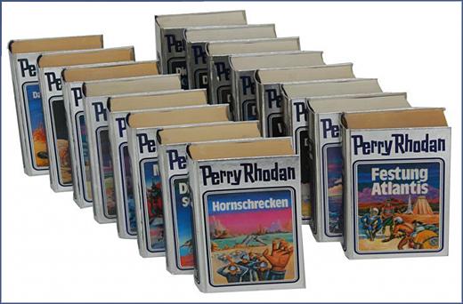 Foto mit einigen Perry Rhodan Silberbänden