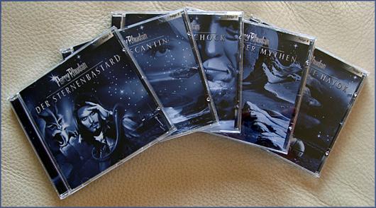 Foto von 5 CDs der Sternenozean Hörspiele