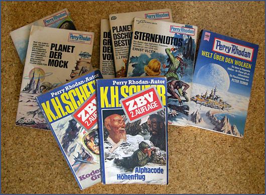 Foto von einer Auswahl aus Perry Rhodan Taschenbüchern