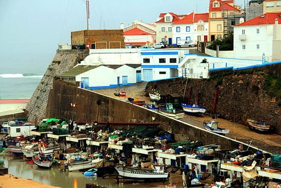 Foto vom Fischerhafen in Ericeira