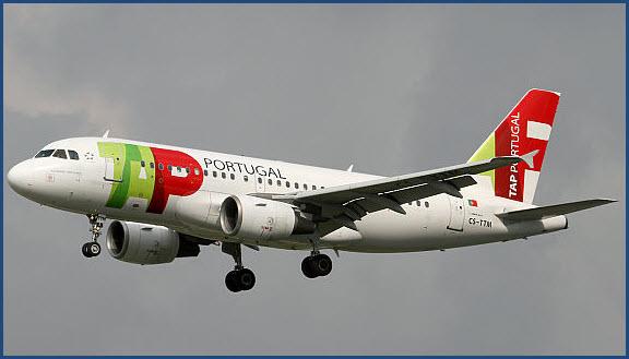 Foto eines Airbus der Fluggesellschaft TAP