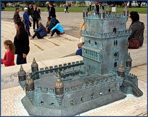Der kleine Torre de Belém noch mal als Modell