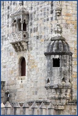 Detailaufnahme eines Türmchens am Torre de Belém