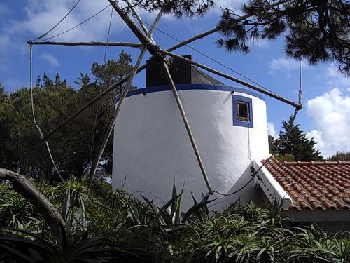 Windmühle bei der Bar Moinho Dom Quixote in Colares