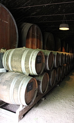 Weinfässer im Lager von José Maria da Fonseca